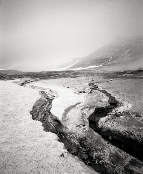 Title: Smoking Land III, Camera: Mamiya RB Pro S, Lens: Mamiya Sekor 50 mm, Film: Kodak T-Max 400, Exposure: 160″, f 16, Namafjall, Iceland, 2013