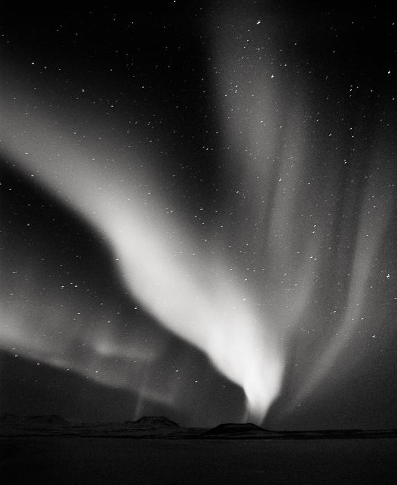 Title: Eagel, Camera: Mamiya RB Pro S, Lens: Mamiya Sekor 50 mm, Film: Kodak T-Max 400 @ 1600, Exposure: 45″ , f 5.6, Namafjall, Iceland, 2013