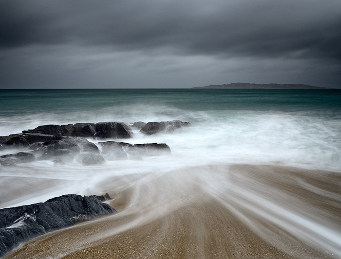 Capture: The Rain and The Beach, Camera: Phase One 645DF+, Lens: 45mm, Back: Phase One IQ250, ISO: 100, Shutter Speed: 5.0s, Aperture: f/16, Filters: Lee ND Grad 0.45 Soft and Lee Big Stopper