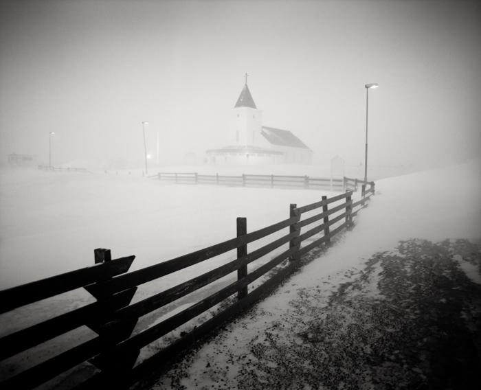 Title: Church, Camera: Mamiya RB 67 Pro S, Lens: Sekor 50 mm, Film: Kodak T-Max 400, Exposure: 30″, f 8, Myvatn, Iceland, 2013