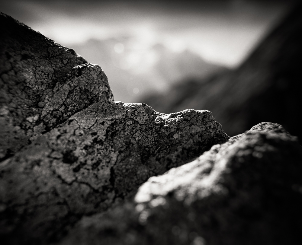 Title: Small World 10, Camera: Mamiya RB 67 Pro SD, Lens: Sekor 50 mm, Film: Kodak T-Max 100, Exposure: 1/30, f 22, Aiguilles Rouges, France, 2014