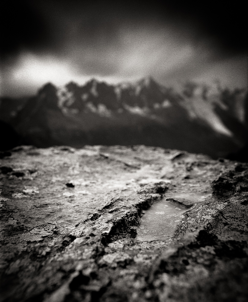 "Title: Small World 23, Camera: Mamiya RB 67 Pro SD, Lens: Sekor 50 mm, Film: Kodak Tri-x 400, Exposure: 120"", f 16, Chamonix, France, 2015"