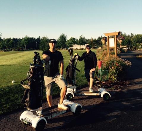 Inaugural GolfBoarders at Chehalem Glenn