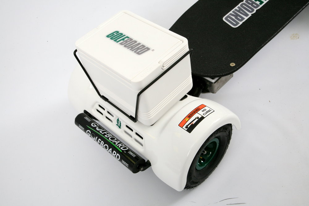Optional cooler assembly fits all GolfBoard models