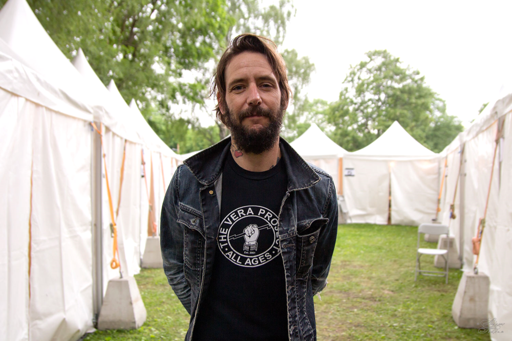 Ben Bridwell backstage at Oslo's Piknik i Parken festival.