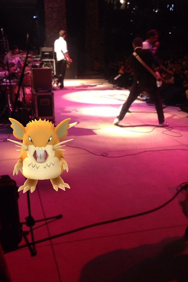 And the pokémons kept invading the stage!