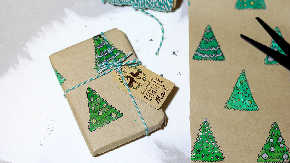 Easy DIY Christmas Wrapping Paper (3 Ways) — Snail Mail Love