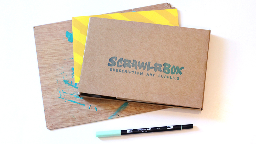 art subscription box scrawlrbox supplies subscription box review snail 31288