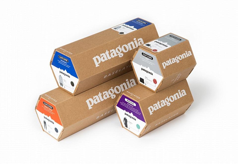 Упаковка для одежды бренда Patagonia