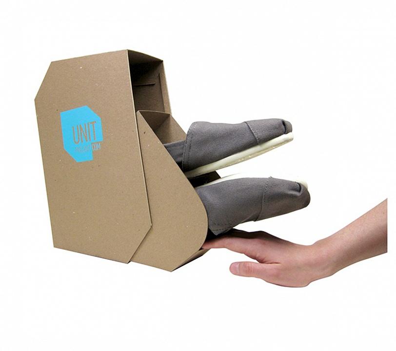 Эффективная упаковка для обуви от pkgunit.com, которая имеет и функциональную составляющую и эстетический компонент