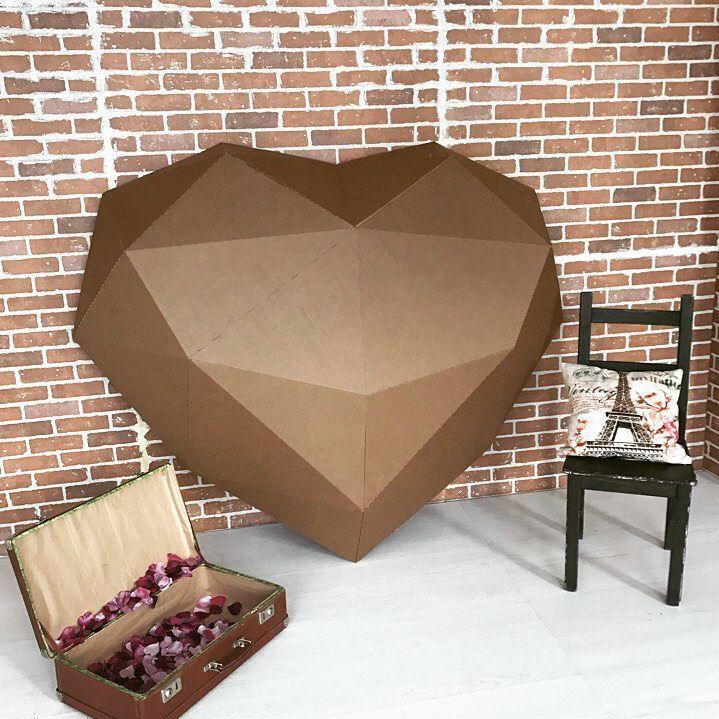 Сердце из картона от kartonshik