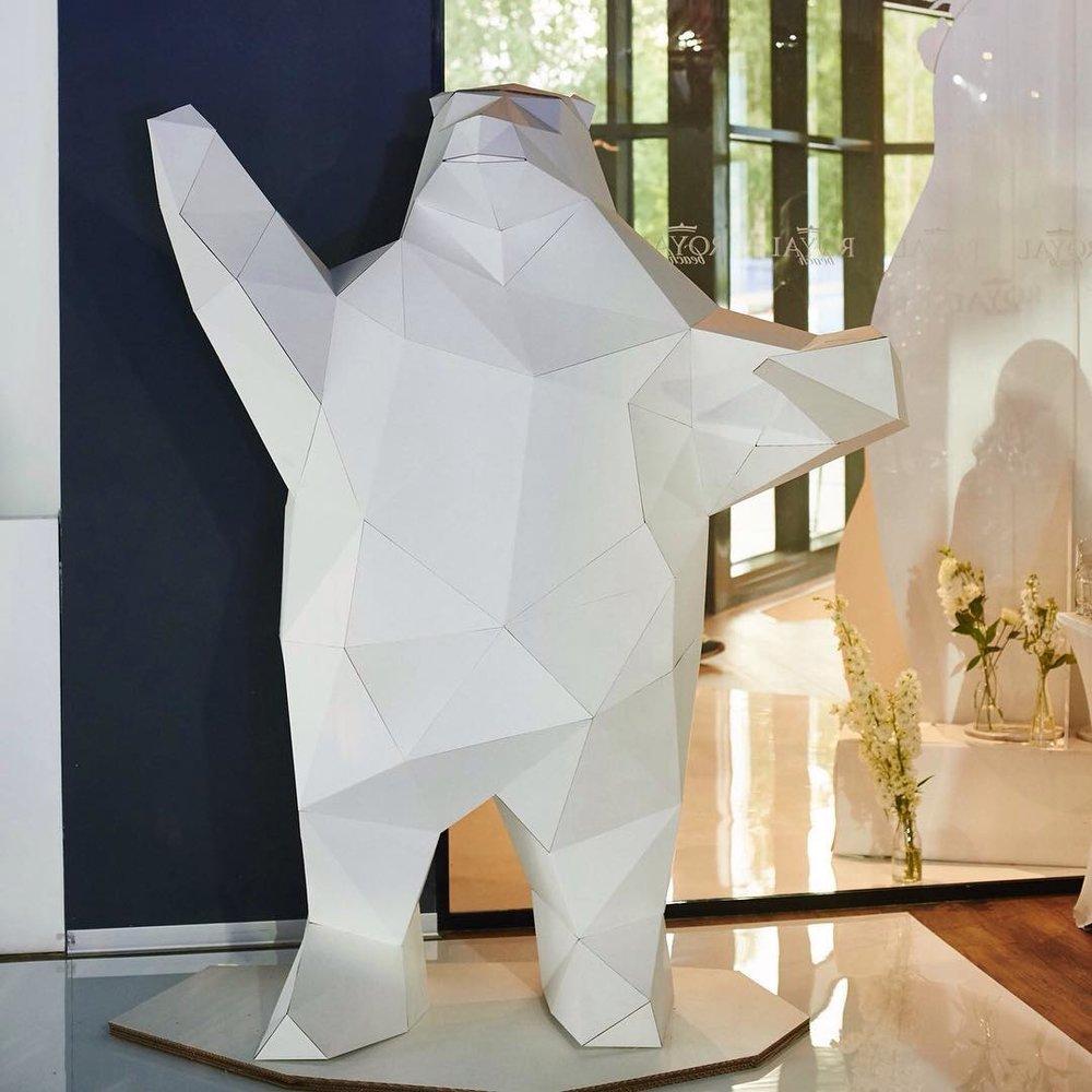 Картонный медведь от kartonshik
