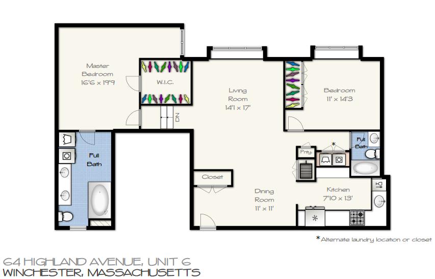 64 Highland Ave Unit #6 Floor Plan