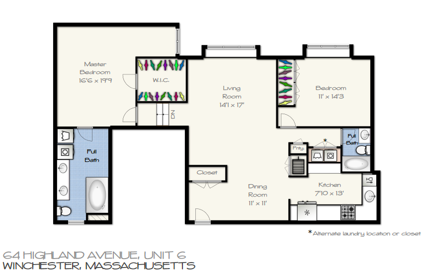 64 Highland Ave Unit# 6 Floor Plan