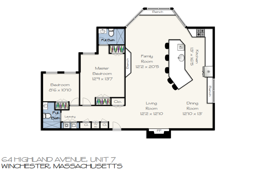 64 Highland Ave unit#7 Floor Plan