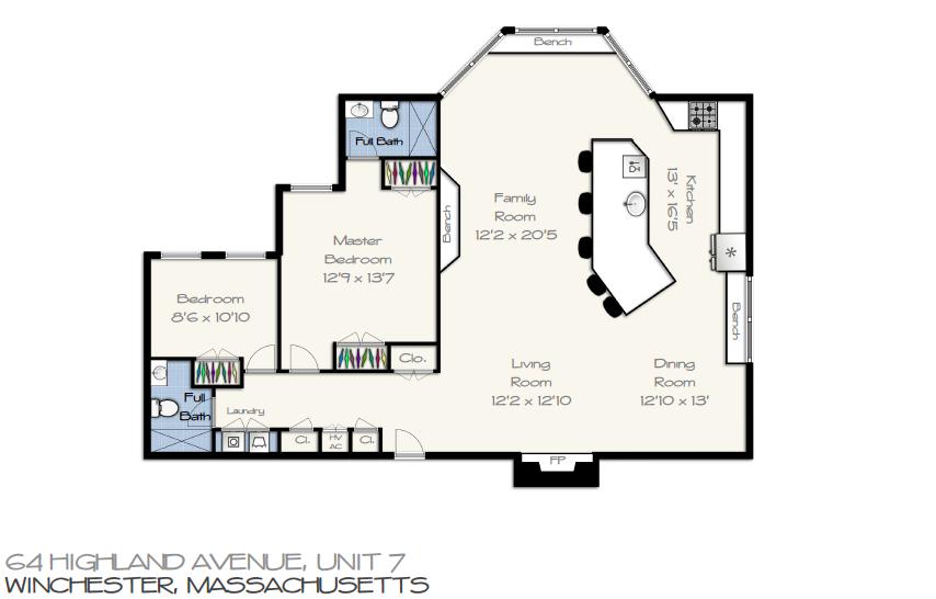 64 Highland Ave unit#7 Floor Plan
