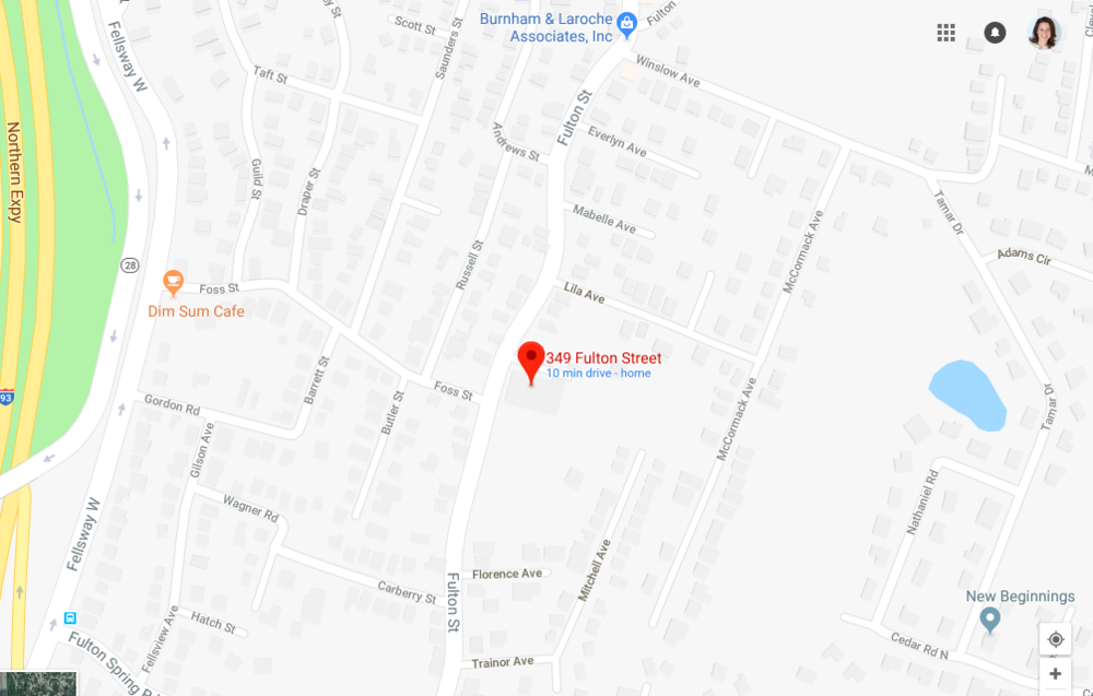 349 Fulton St Medford Map