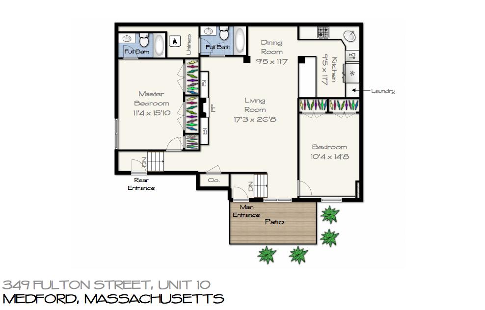 349 Fulton St #10 Medford Floor Plan