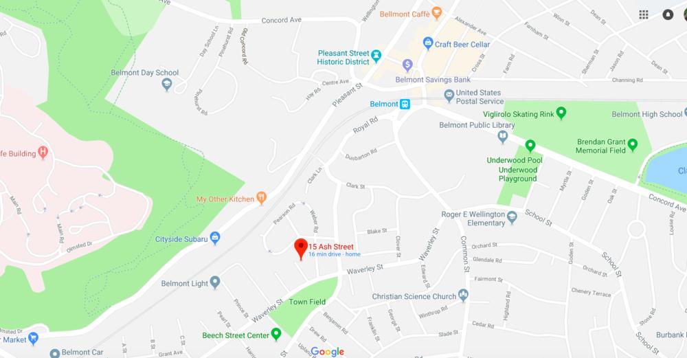 15 Ash St area map