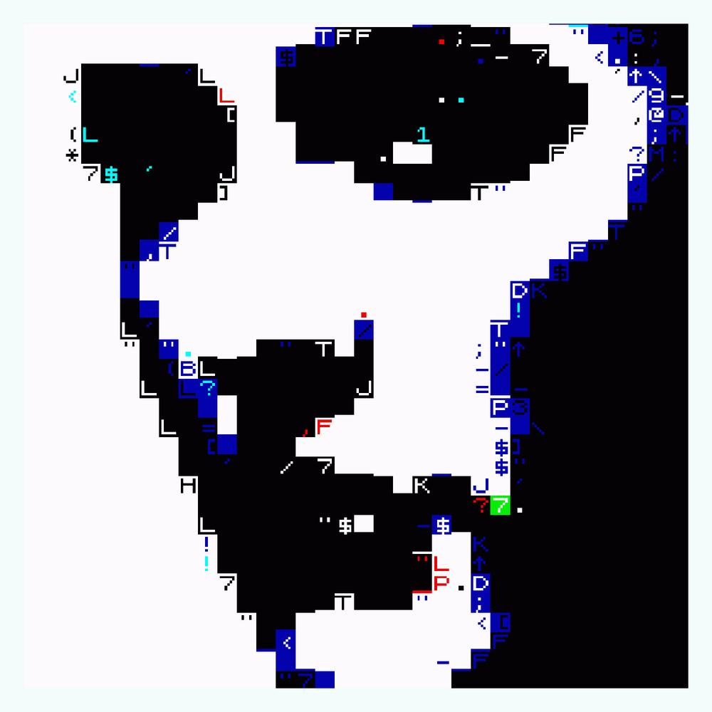 """1000 Byte Stare   Archival Pigment Print, editon of 3   23"""" x 24""""    2012"""