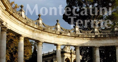 Montecatini Terme is located in the heart of northern Tuscany, between   Lucca   and Florence. It's a spa town, healing waters that gush from the earth are drunk, soaked in, and talked about.