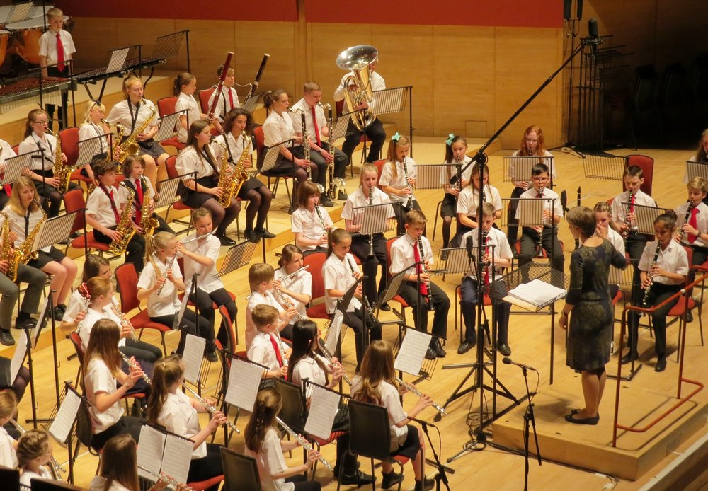 Basingstoke Area Youth Wind Training Orchestra Performing at the Anvil with TAYWB.