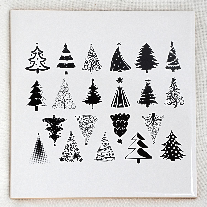 Christmas Tree Decals For Glass Ceramic Or Enamel Custom Ceramic