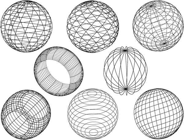 geometric sphere decals for ceramic  porcelain  glass and
