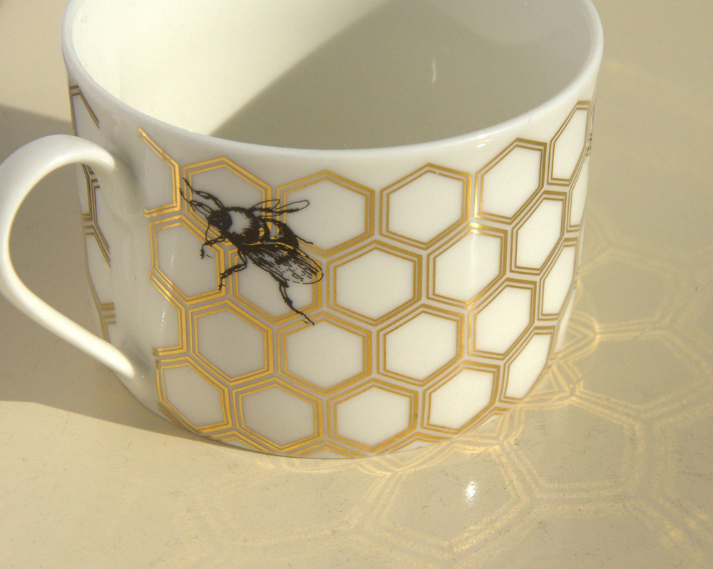 Honeycomb Pattern Ceramic Decal Transfer Glass Fusing