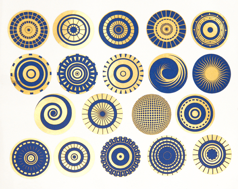 Delft Blue+Gold Circles