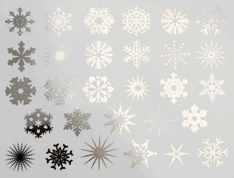 Small Snowflake Decals For Glass Ceramic Or Enamel Custom Ceramic