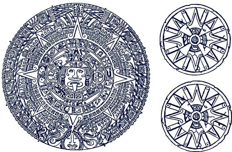 Mayan Calendar Ceramic Decal Glass Decal Enamel Decal Lead