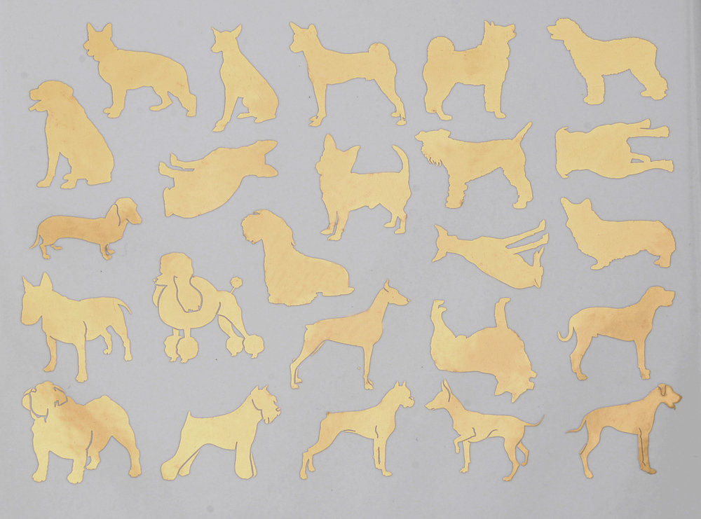 Dog Silhouette Ceramic Decals Glass Decals Or Enamel Decals - Sporting dog decals