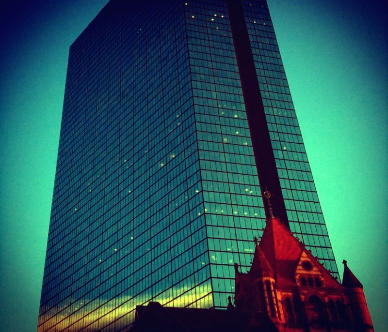 Old and new.  #Boston #iphoneography #camerabag