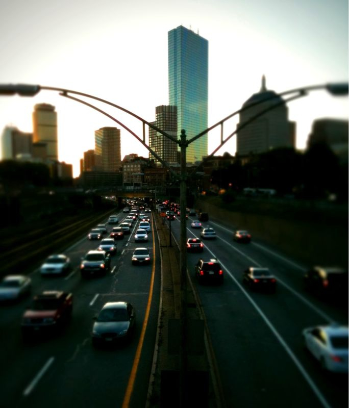The commute. #Boston #iphoneography #tiltshift