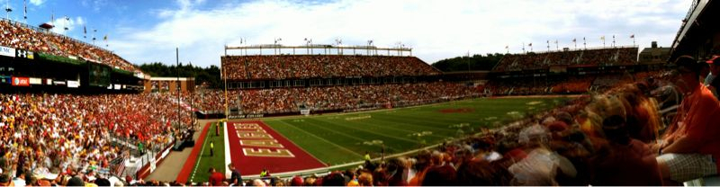 Alumni Stadium. #iphoneography #autostitch #wearebc #goeagles