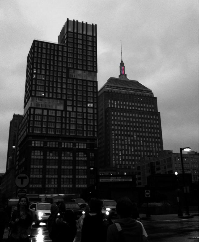 Steady red, rain ahead. #iphoneography #Boston #colorsplash