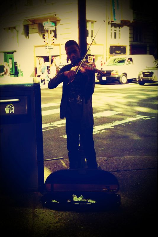 The violinist. #iphoneography #pictureshow