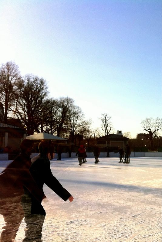 Skating at the Frog Pond. #iphoneography