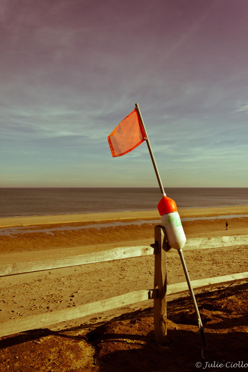 Red flag day.   Taken in Wellfleet, MA.