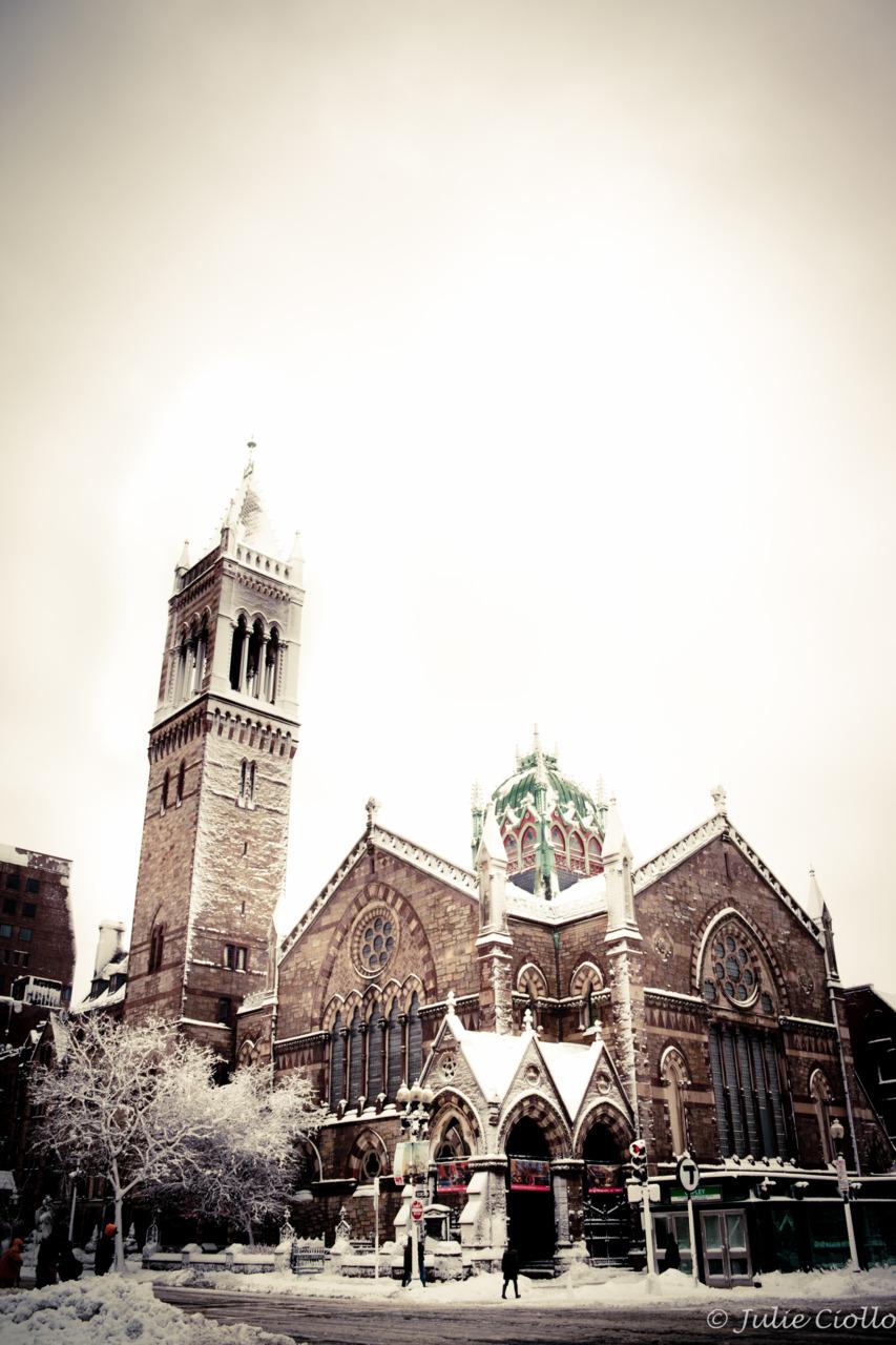 Old South Church.   Copley Square, Boston.