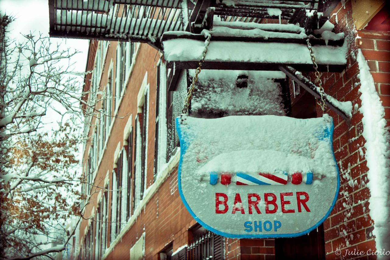Barber Shop.   South End, Boston.