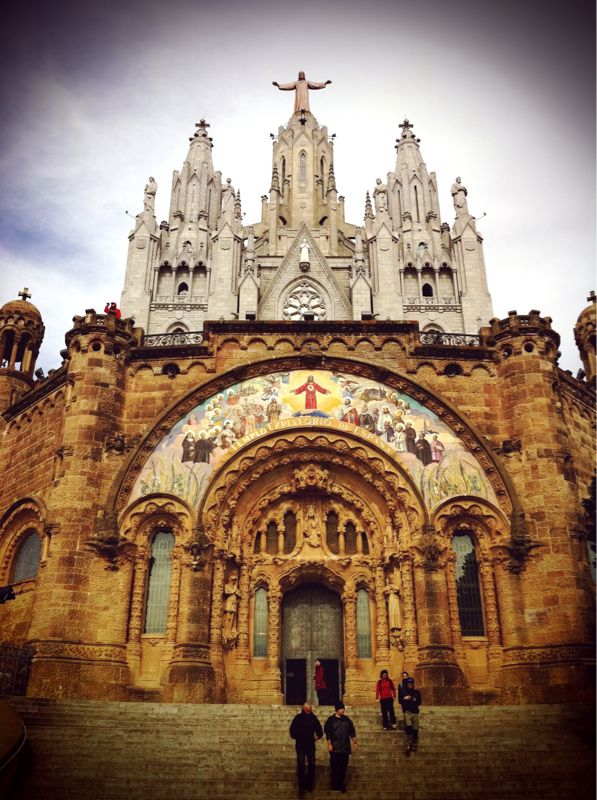 Temple Expiatori del Sagrat Cor on Tibidabo Mountain, Barcelona.