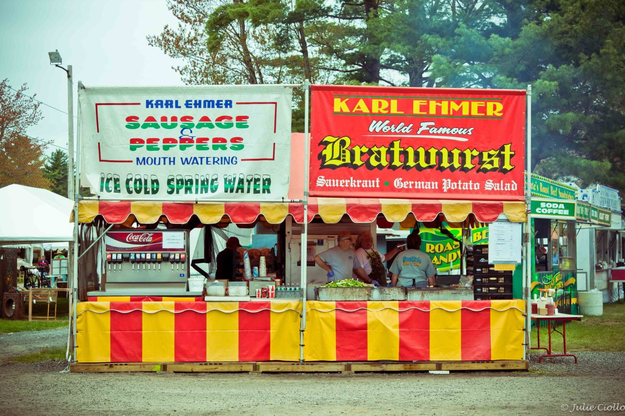 Karl Ehmer. Food stalls at the Brimfield Antique Show.
