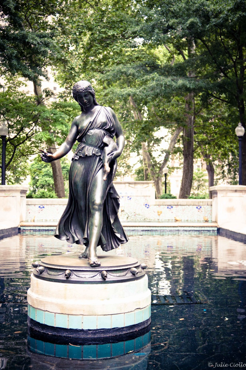 Lady in the water. Rittenhouse Square, Philadelphia.