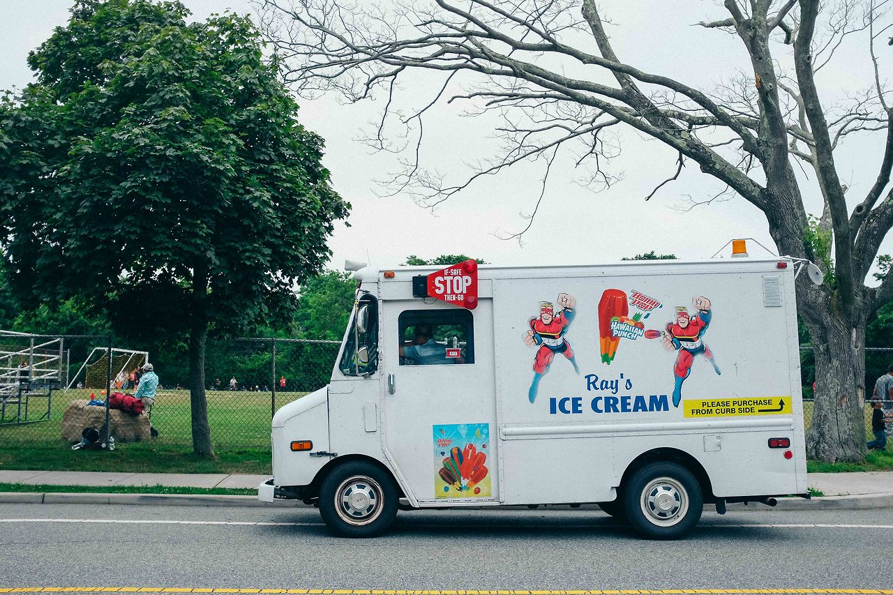 Summer just isn't summer without the ice cream man.     July, 2014