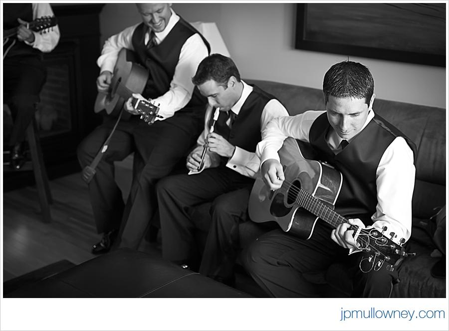 Groomsmen Playing Instruments