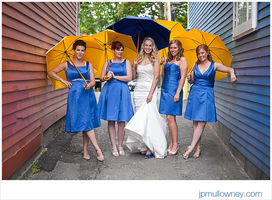 Bridesmaids and Umbrellas