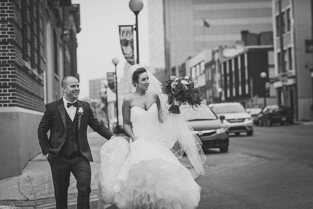 Bride and Groom during a Downtown St. John's, Newfoundland wedding