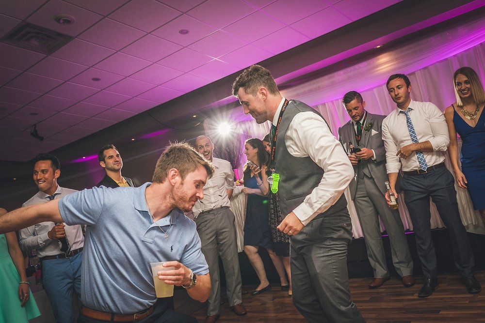Groom dances at a Newfoundland Wedding held at Glendenning in St. John's